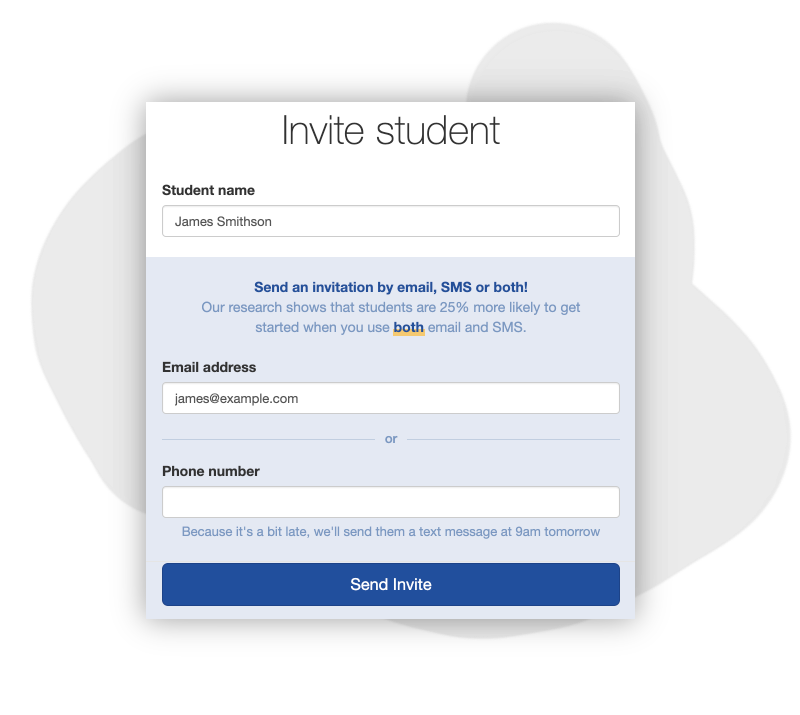 Invite your students