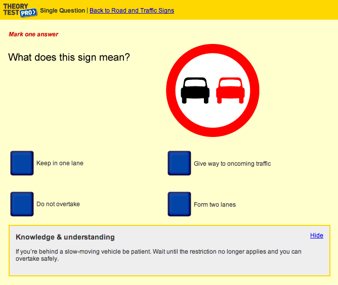 Online Theory Test Software screenshot